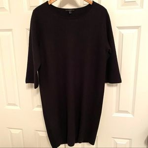 Cos Black Felted and Knit Sweater Dress Size S